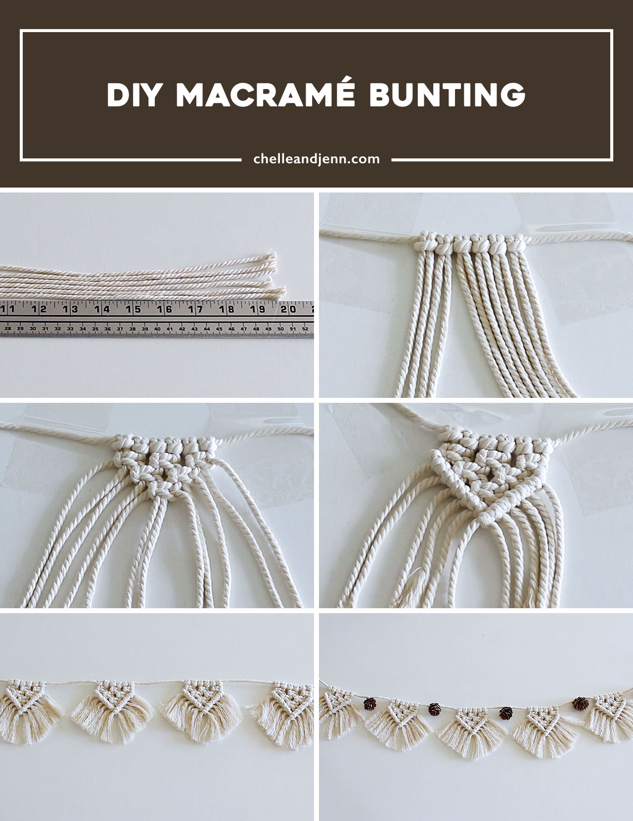 Day 1 Macrame Bunting Chelle And Jenn